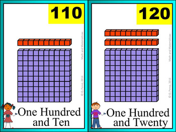 Skip-Counting by 10s Posters -Counting to 120- Base Ten Representations