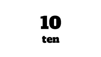 Skip Counting by 10's to 120 Posters