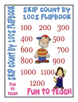 Skip Counting by 100 Flip Book - Color, Cut and Assemble!
