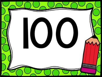 Skip Counting by 100's Classroom Poster Set: Back to School Theme