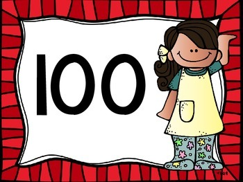 Skip Counting by 100's Classroom Poster Set: Crazy Kids Theme