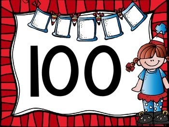 Skip Counting by 100's Classroom Poster Set: Seuss Kids Theme