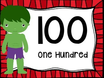 Skip Counting by 100's Classroom Poster Set:Superheroes