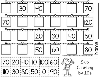 Skip Counting by 10s Worksheets by Catherine S | TpT