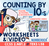 Skip Counting by 10 Worksheets ★ Counting by 10 Number Puzzles ★ 2.NBT.2 & 1.5B