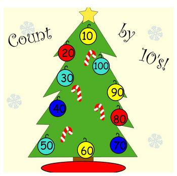 Skip Counting by 10's Christmas Tree! SMARTboard