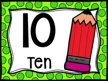 Skip Counting by 10's Classroom Poster Set: Back to School Theme