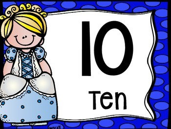 Skip Counting by 10's Classroom Poster Set: Cinderella Themed