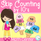 Skip Counting by 10's Math Center