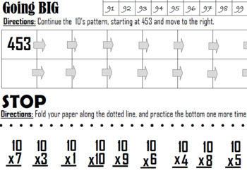 Skip Counting by 10s Worksheet for Multiplication with Skip Counting Rap Song
