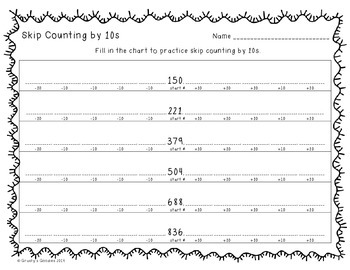 Freebie} Skip Counting by 10s Worksheet: 3... by Grasty's Goodies ...