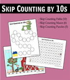 Skip Counting by 10s Worksheets - Paths, Mazes & Puzzles