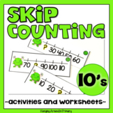 Skip Counting by 10s Task Cards and Math Centers