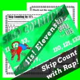 Skip Counting by 11s Worksheet for Multiplication with Ski