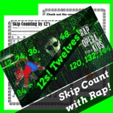 Skip Counting by 12s Worksheet for Multiplication with Ski