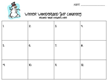 Skip Counting by 1's, 2's, 5's,  10's, and 100's   Common Core 2.NBT.2