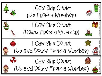 Skip Counting Task Cards by 1s  2s  5s  10s for Christmas