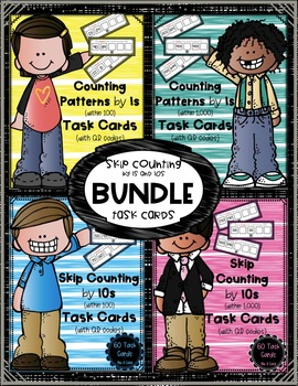 Skip Counting by 1s and 10s Task Cards BUNDLE