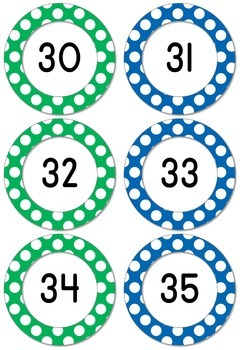 Skip Counting by 2 (1-100 number cards)