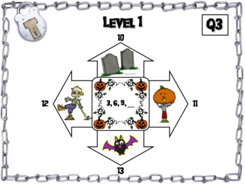 Skip Counting by 2, 3, 4, 5, 10 Activity: Halloween Escape Room Math