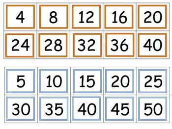 Skip Counting by 2, 3, 4, and 5