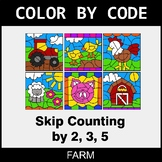 Skip Counting by 2, 3, 5 - Color by Code / Coloring Pages - Farm