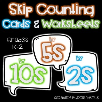 Skip Counting Worksheets Math K-2