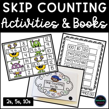 Skip Counting by 2, 5 and 10 Activities and Books