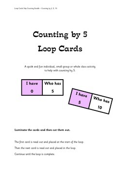 Skip Counting by 2, 5 and 10 - Loop Cards 3 Pack Bundle