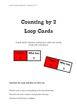 Skip Counting by 2, 5 and 10 - Loop Cards 3 Pack Bundle