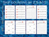 Skip Counting by 2, 5 and 10 Worksheets, Grade 1, Math Wor