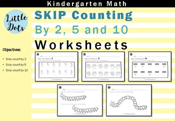 skip counting by 2 5 and 10 worksheets for kindergarten to grade 1. Black Bedroom Furniture Sets. Home Design Ideas