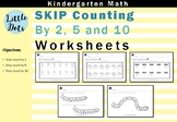 Skip Counting by 2, 5 and 10 Worksheets for Kindergarten t