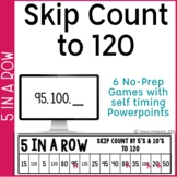 Skip Counting by 2, 5, and 10 to 100 and 120 Games   Numbe