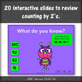 Skip Counting by 2 Interactive Math Game {Love Bug}