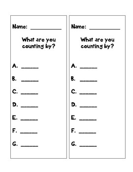 Skip Counting by 2's, 5's, & 10's- Differentiated