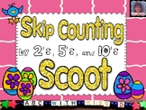 Skip Counting by 2's 5's and 10's-Easter Math Scoot Game w