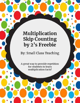 Skip Counting by 2's Freebie