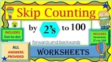 Skip Counting by 2's to 100 (forwards and backwards)