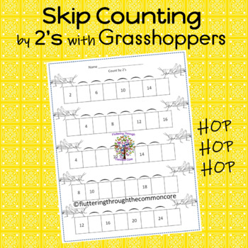 Skip Counting by 2's with Grasshoppers