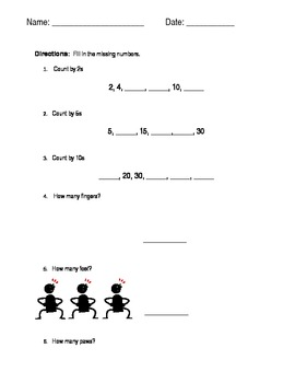 Skip Counting by 2s, 4s, 5s, 10s