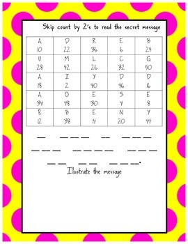 Skip Counting by (2's, 5's, 10's) Mystery Puzzles