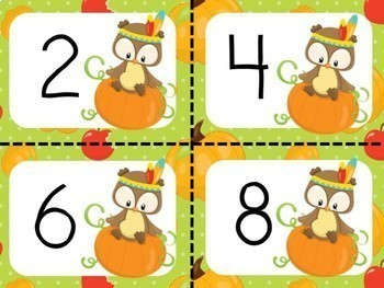 Skip Counting by 2s, 5s, 10s - Thanksgiving Theme
