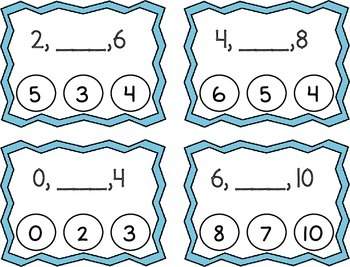 Skip Counting by 2's Clothespin Task Cards