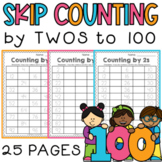Skip Counting by 2 Worksheets - Differentiated / Scaffolded / RTI