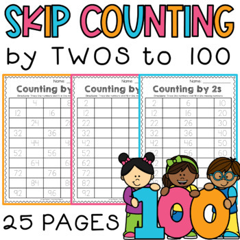 Skip Counting by 2s Worksheets Differentiated / Scaffolded / RTI