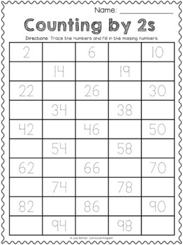 Skip Counting by 2 Worksheets Differentiated / Scaffolded ...