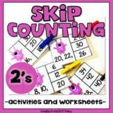 Skip Counting by 2 Activities and Worksheets