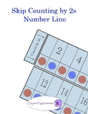 Skip Counting by 2s  - Number Line  for Visual and Kinesthetic Learners
