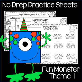 Skip Counting by 2s Practice Pages and Math Centre Activity